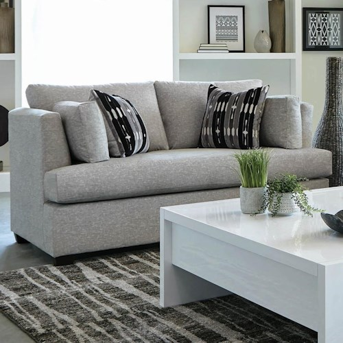 Coaster Lola Contemporary Love Seat with Track Arms