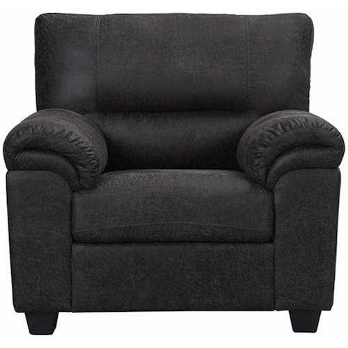 Coaster Ballard Casual Upholstered Chair with Pillow Arms
