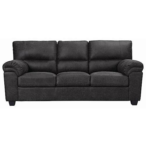 Coaster Ballard Casual Sofa with Pillow Arms