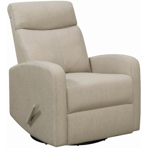 Coaster 6031 Contemporary Swivel Glider Recliner