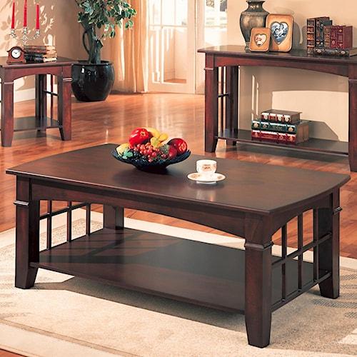Coaster Abernathy Rectangular Coffee Table with Shelf
