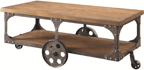 Coaster 70112 Coffee Table with Shelf