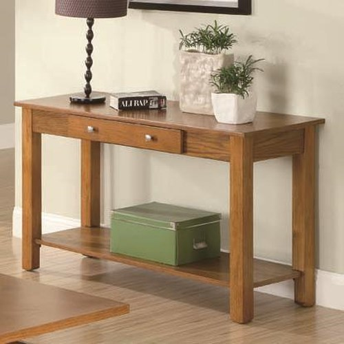Coaster Occasional Group Sofa Table with Drawer and Base Shelf