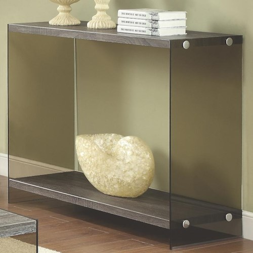 Coaster 70196 Console Table w/ Glass Sides