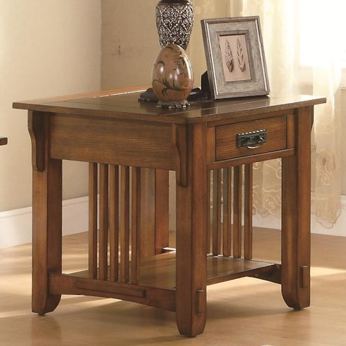 Coaster Occasional Group Drawer End Table with Shelf
