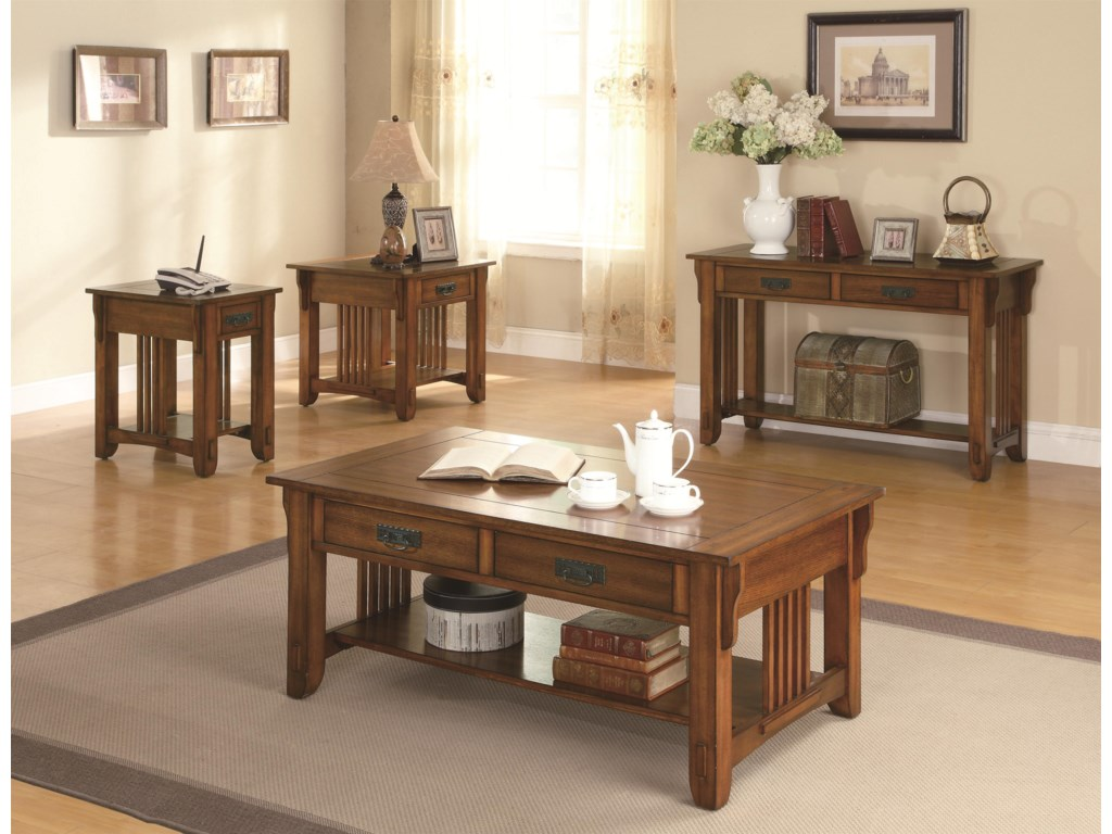 Shown with Sofa Table, End Table & Side Table