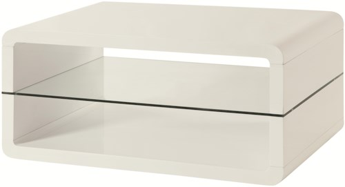 Coaster 70326 Cocktail Table with 2 Shelves