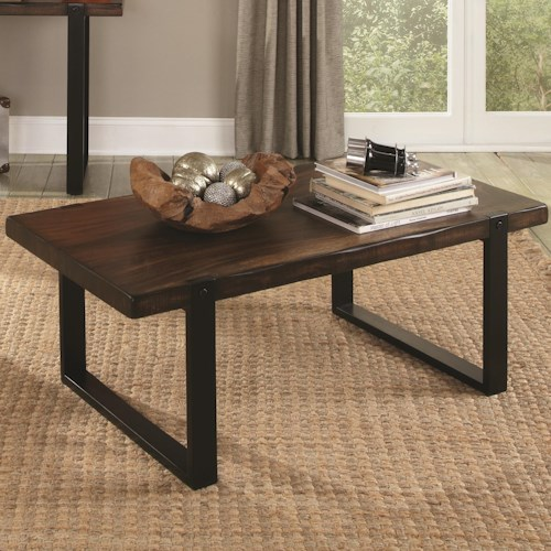 Coaster 70342 Coffee Table with Rustic Look