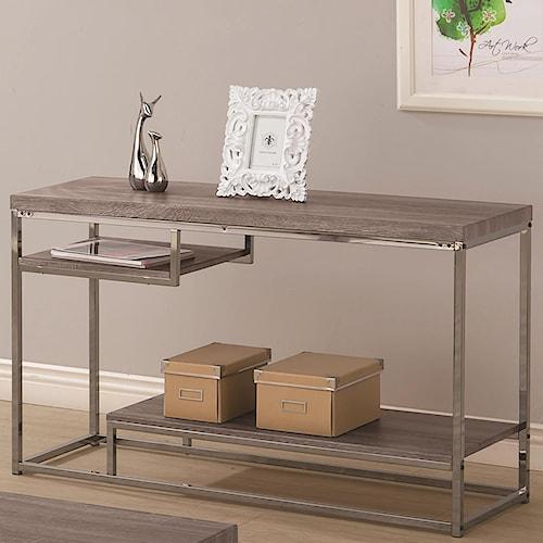 Coaster 7037 2 Shelf Sofa Table with Chrome Frame