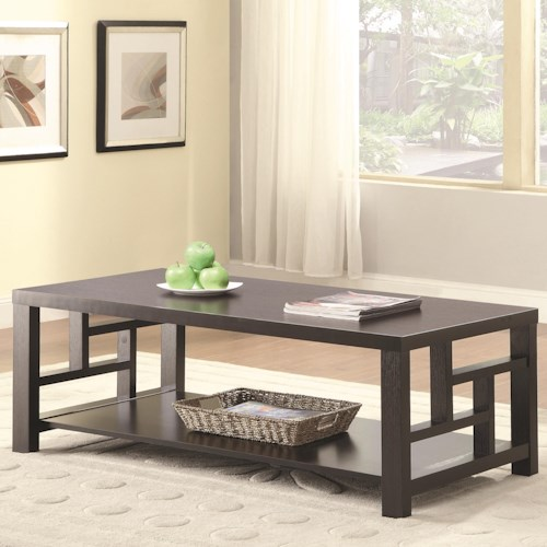 Coaster 703530 Coffee Table with Shelf