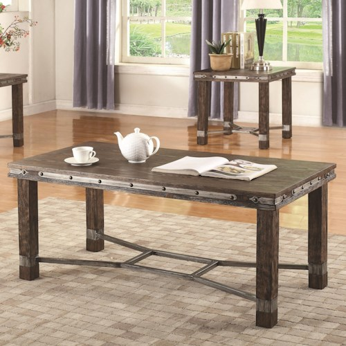 Coaster 703540 Rustic Coffee Table