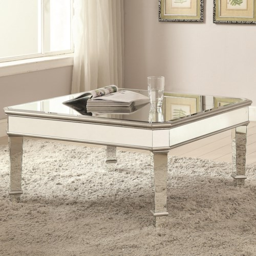 Coaster 70393 Mirrored Coffee Table