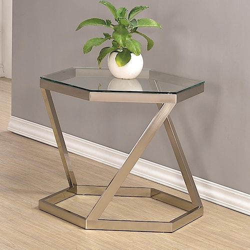 Coaster 70400 Hexagon End Table