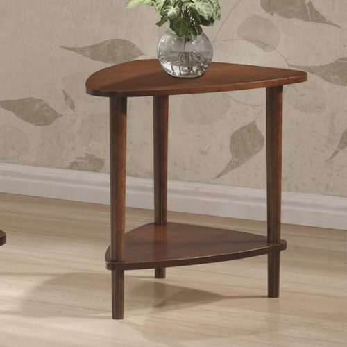 Coaster 70405 Contemporary End Table with Lower Shelf