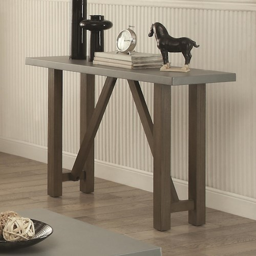 Coaster 70424 Sofa Table with Concrete Top