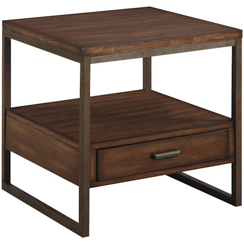 Coaster 70430 Industrial End Table with One Drawer