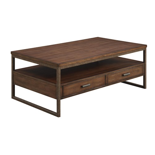 Coaster 70430 Industrial Two Drawer Coffee Table