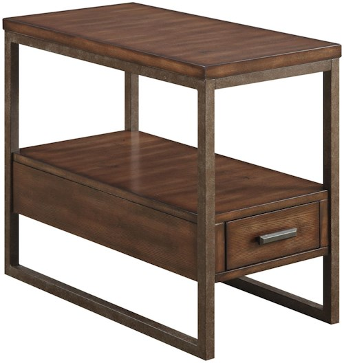 Coaster 70430 Industrial Chairside Table with One Drawer