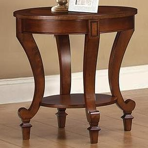 Coaster 70440 End Table with Decorative Wood Inlay
