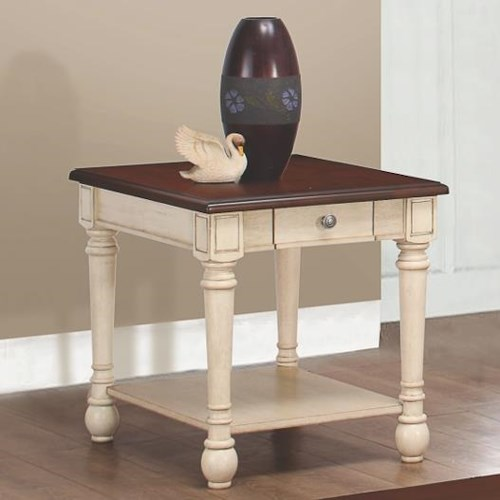Coaster 70441 Two-Toned Transitional End Table
