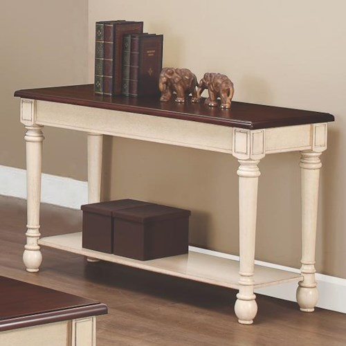 Coaster 70441 Two-Toned Transitional Sofa Table