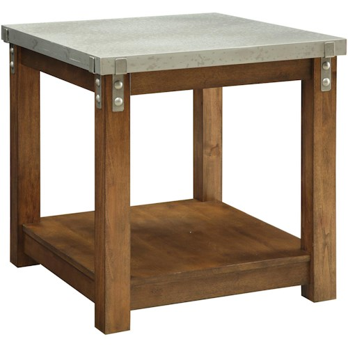 Coaster 70454 End Table with Metal Top