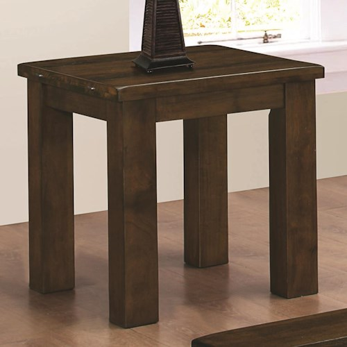 Coaster 70474 Square End Table with Oversized Legs