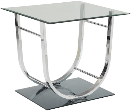 Coaster 704980 U-Shaped Contemporary End Table