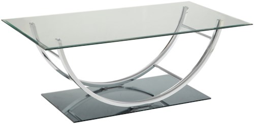 Coaster 704980 U-Shaped Contemporary Coffee Table
