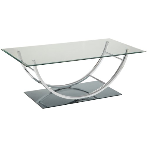 Coaster 704980 U-Shaped Contemporary Coffee Table