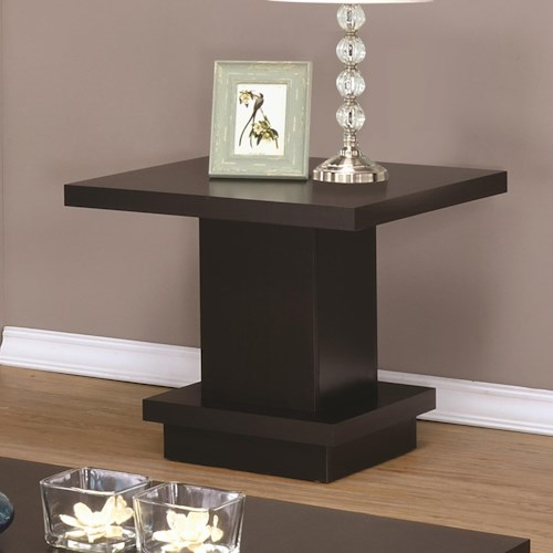 Coaster 70516 Modern Pedestal End Table