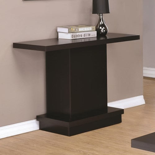 Coaster 70516 Modern Pedestal Sofa Table