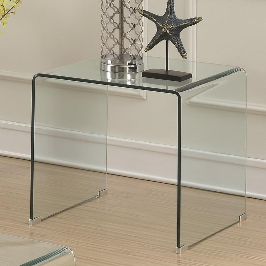 Coaster 70532 705327 clear acrylic end table dunk bright furniture end tables