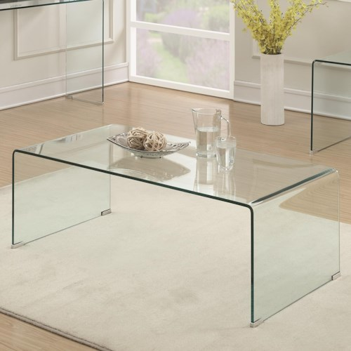 Coaster Clear Acrylic Coffee Table Aladdin Home Store - Clear acrylic cocktail table