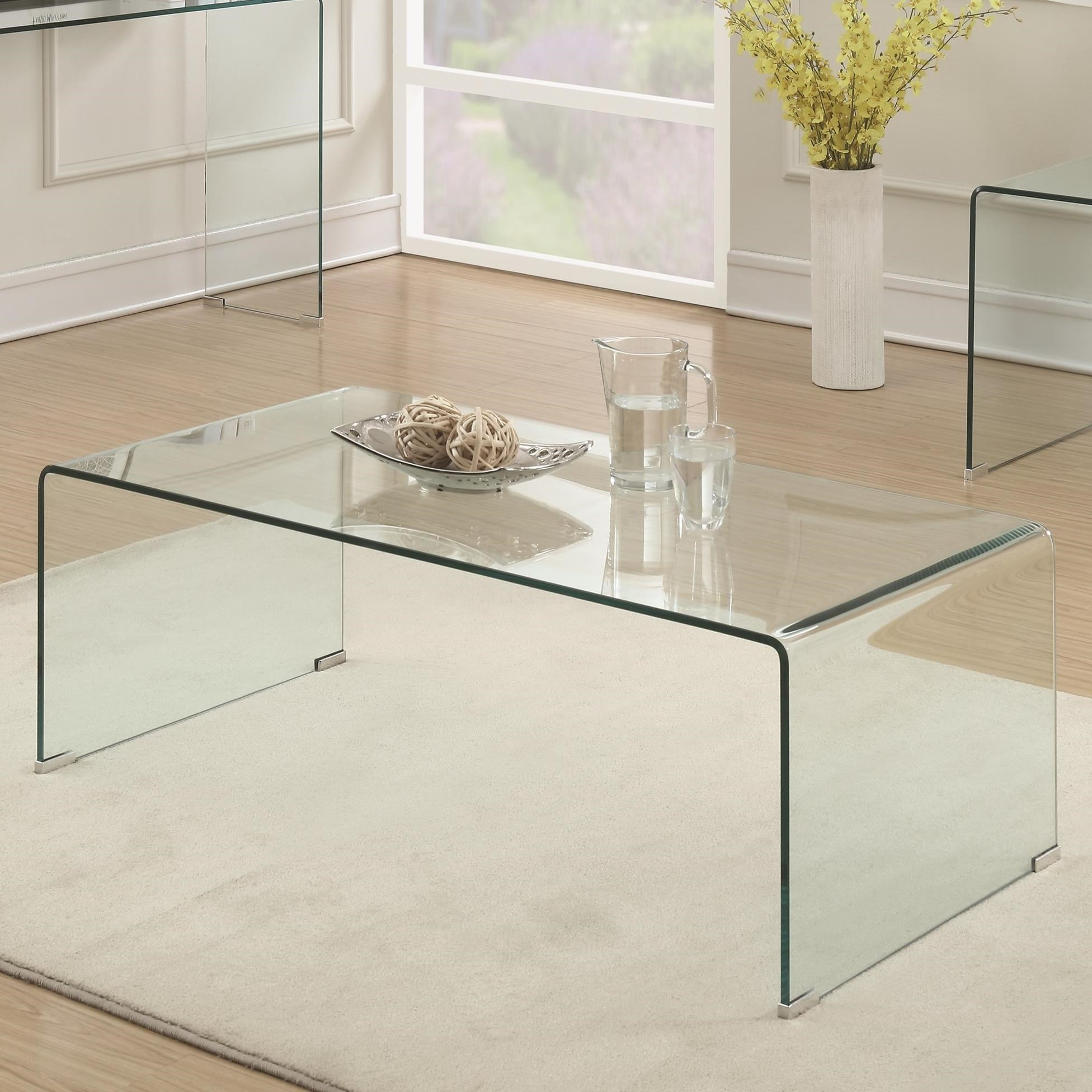 Coaster 70532 Clear Acrylic Coffee Table