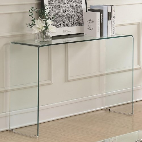 Coaster 70532 Clear Acrylic Sofa Table