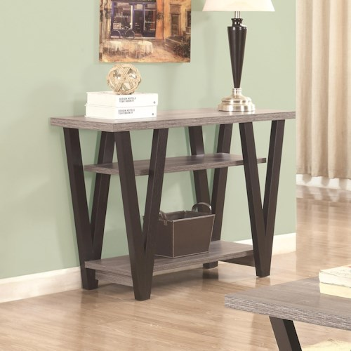 Coaster 70539 Two-Tone Angled Leg Sofa Table