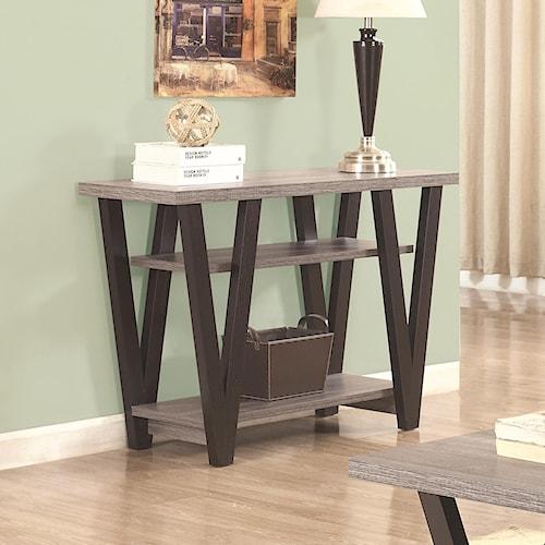 Coaster 70539 Two-Tone Angled Leg Sofa Table