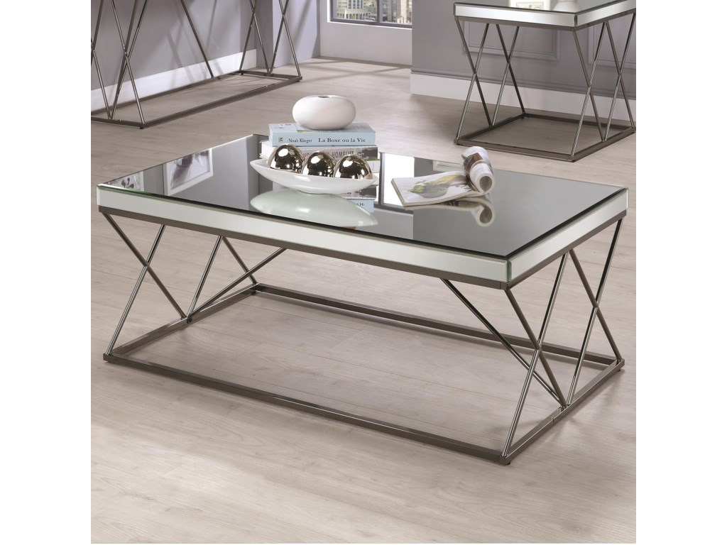 Coaster Furniture 70547Mirrored Coffee Table