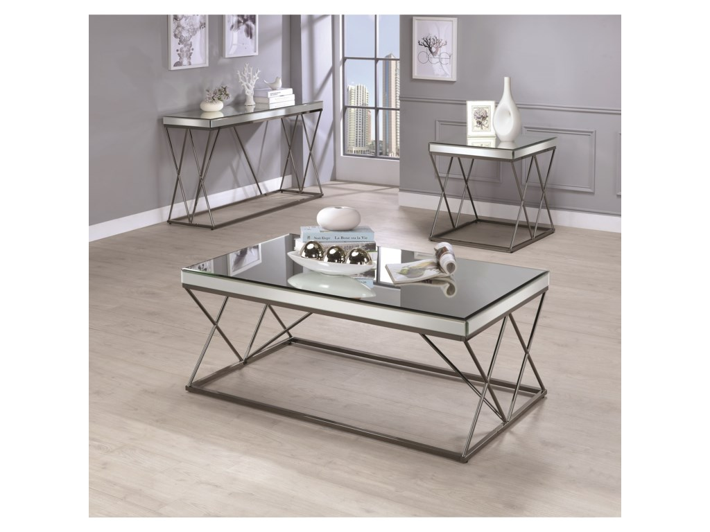 Coaster 70547Mirrored Sofa Table