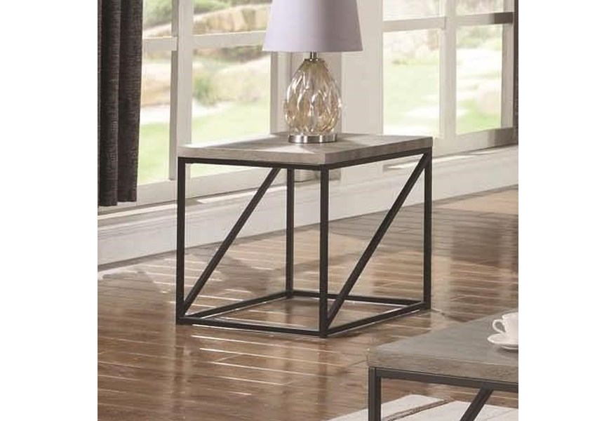 best service 20a22 867b2 70561 Industrial End Table by Coaster at Dunk & Bright Furniture