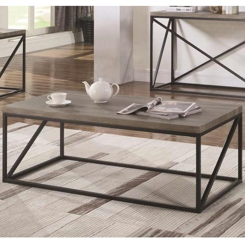 Coaster 70561 Industrial Coffee Table