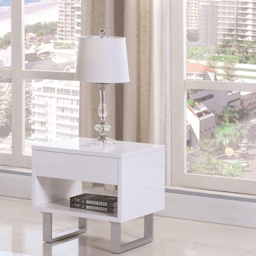 Coaster 70569 Rectangular End Table with Drawer and Shelf