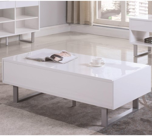 Coaster 70569 Rectangular Coffee Table with Two Drawers