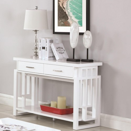 Coaster 70570 Contemporary Sofa Table with Two Drawers
