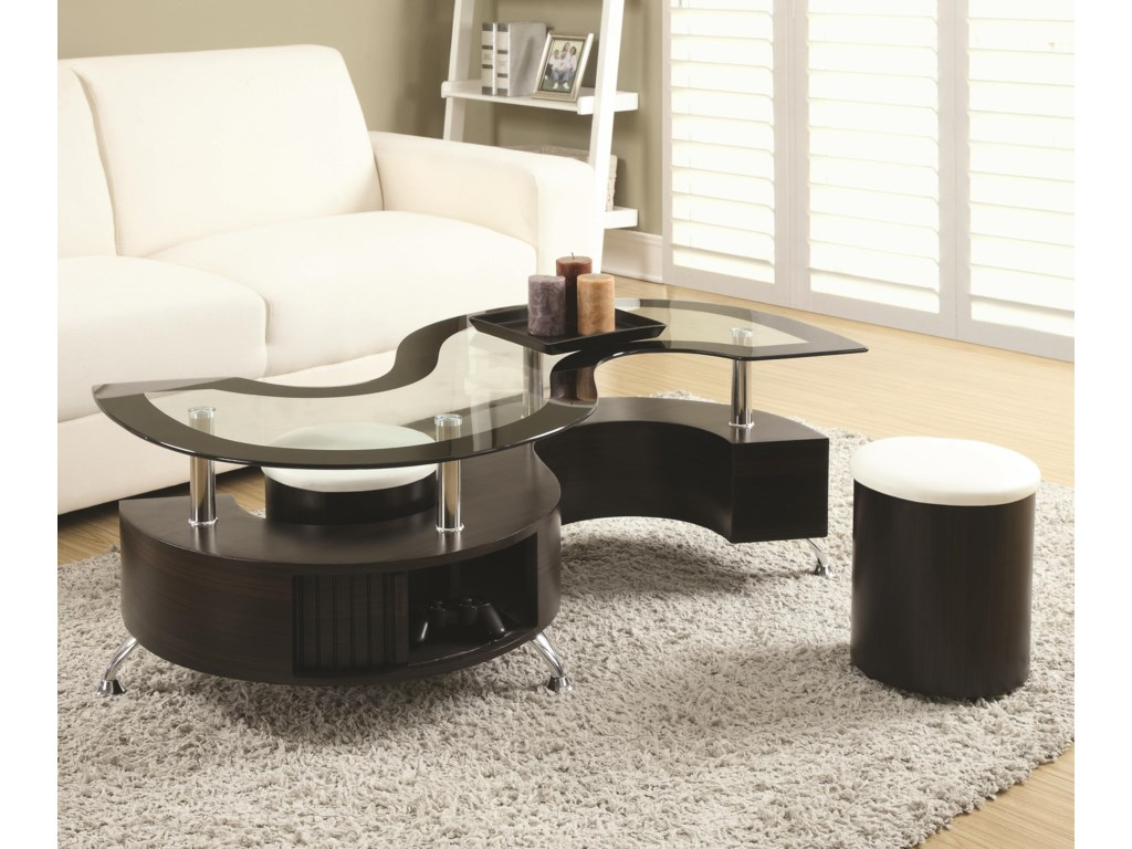 Coaster 720218Coffee Table and Stools