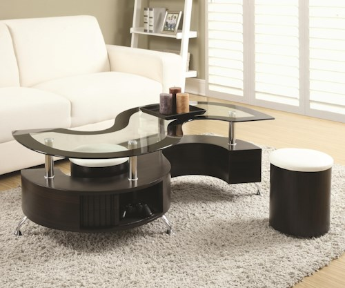 Coaster 720218 Coffee Table and Stools