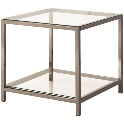 Coaster 72022 End Table with Shelf
