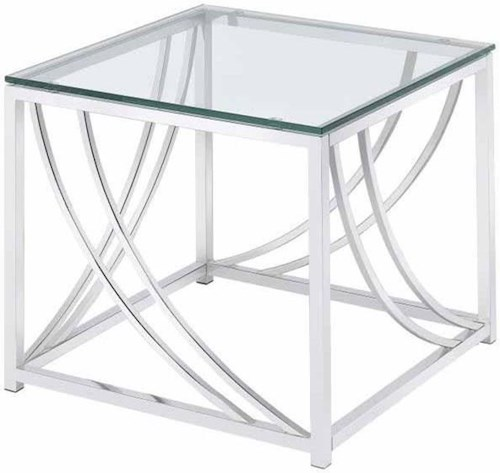 Coaster 720490 Modern Glass Top End Table