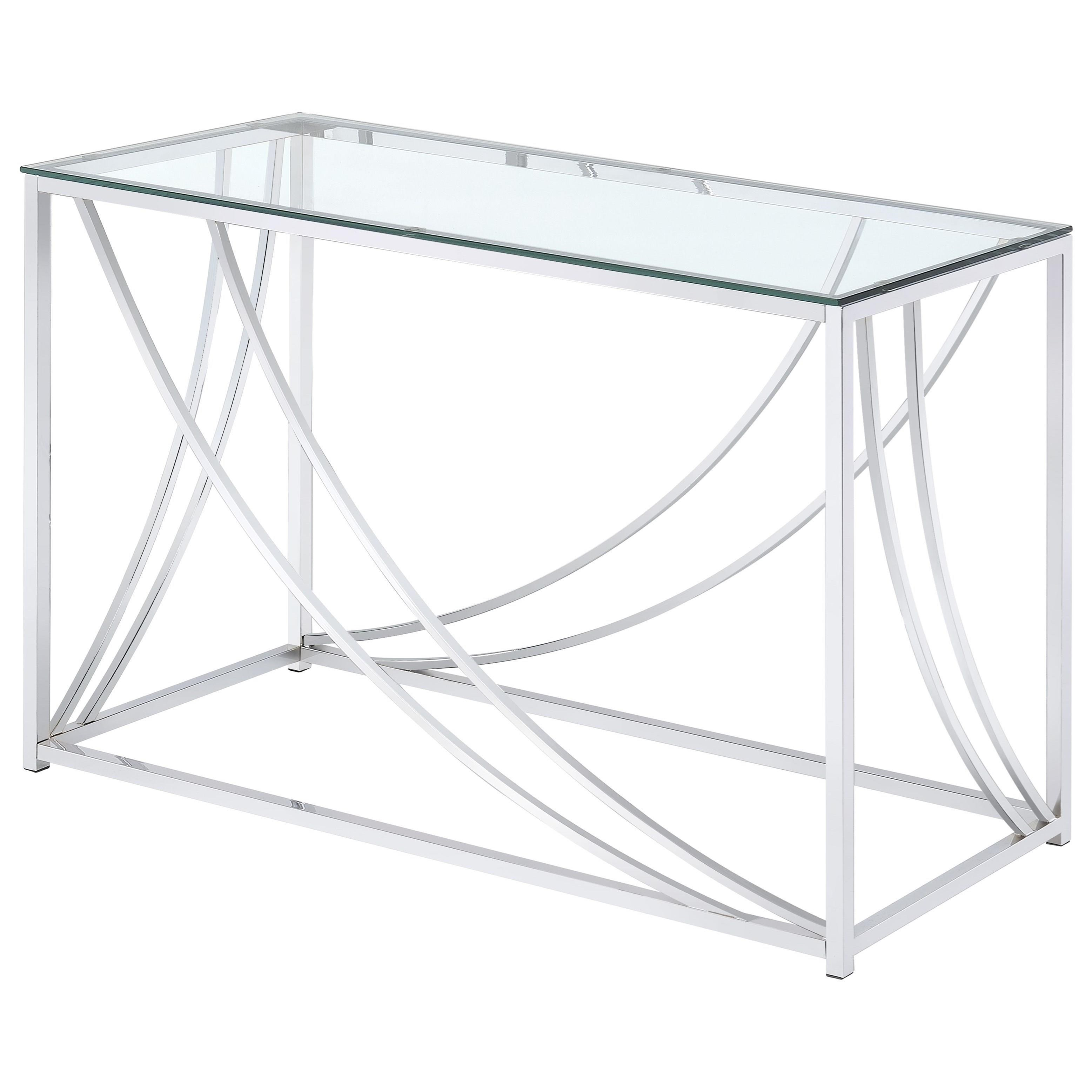 Modern Glass Top Sofa Table